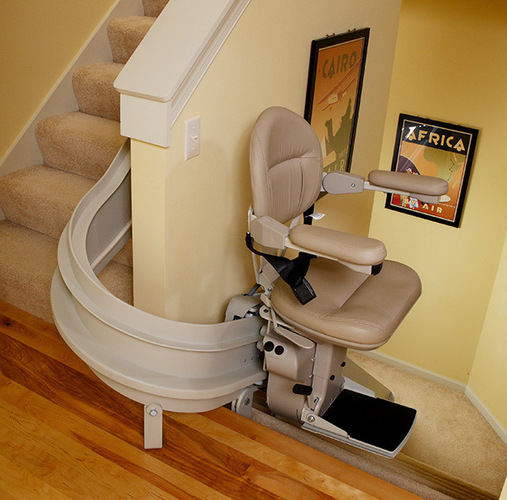 Bruno Elite Curved Stair Lift, Stair Lift, Chair Lift, Custom Stair Lift